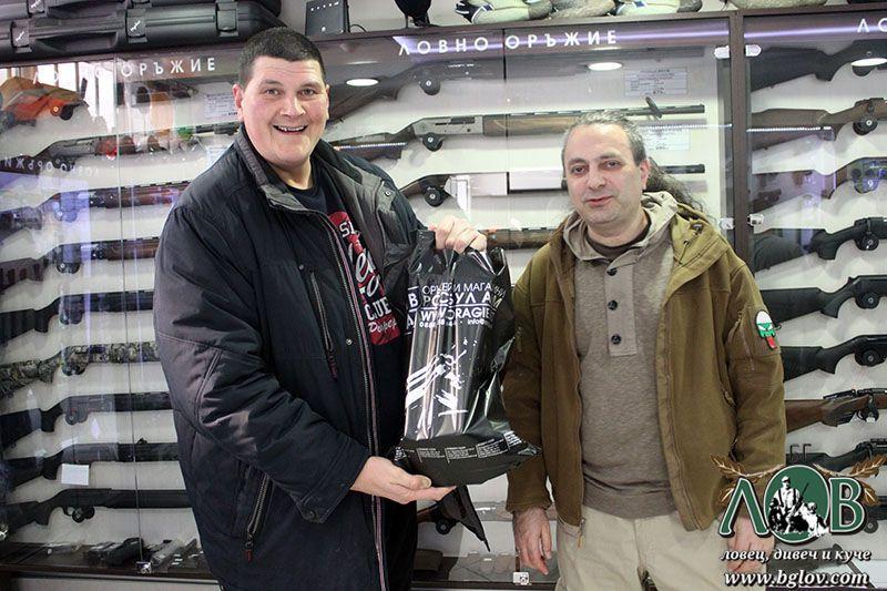 Росбул Арм награждава Христо Грозков с Ръчен фар за запалка OPTRONICS